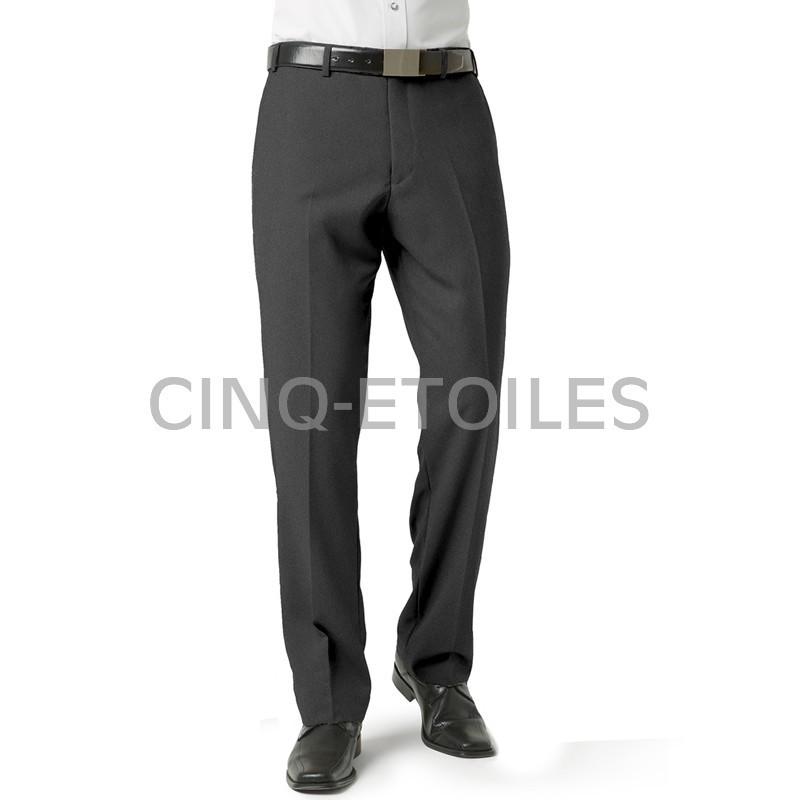 Pantalon pour homme sans plis gris