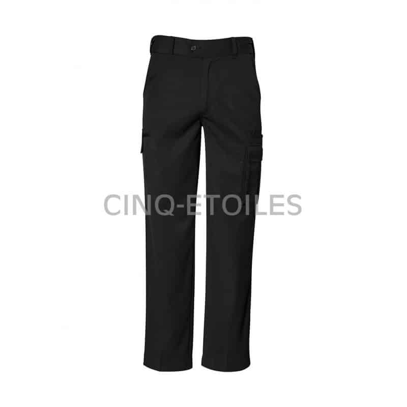 Pantalon détroit noir pour homme noir