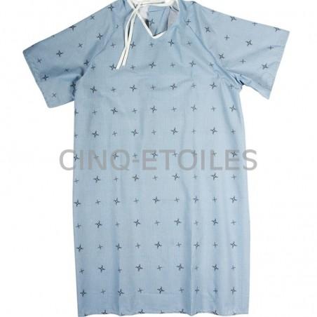 Jaquette de patient bleu imprimé