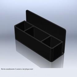 Porte-condiments 3 casiers