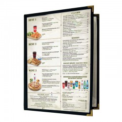 Couverture de menu 2 volets 8x11
