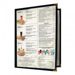 Couverture de menu 2 volets 8x11