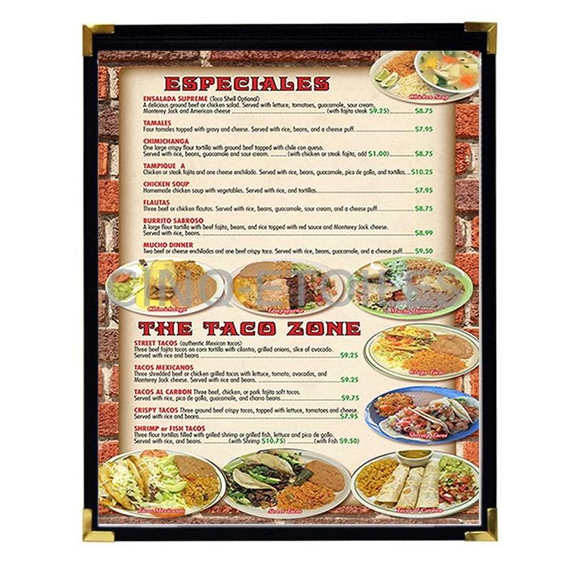 Couverture de menu 1 volet 8x14