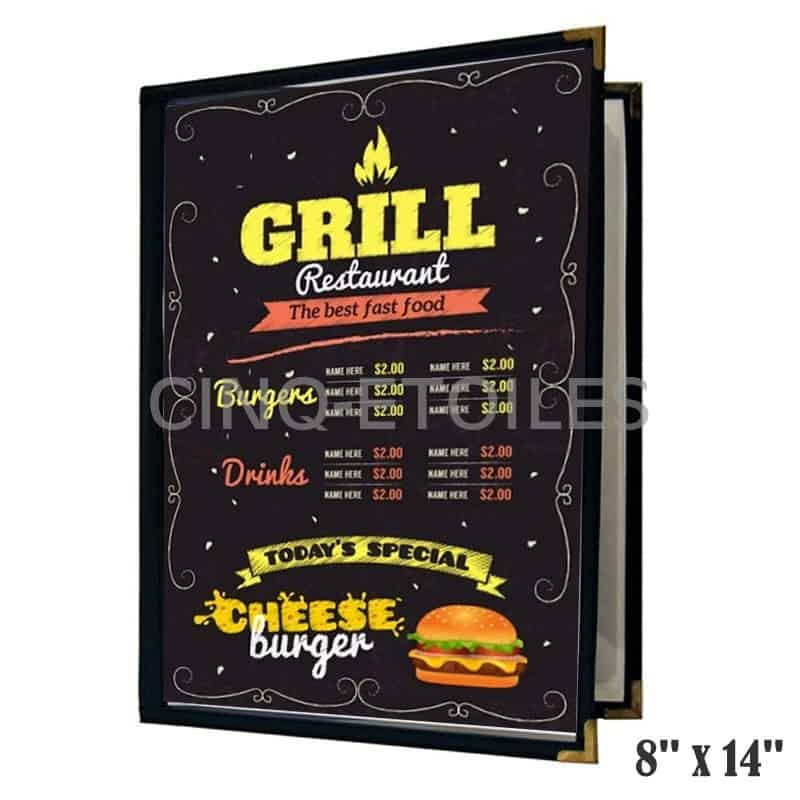 Couverture de menu 2 volets 8x14