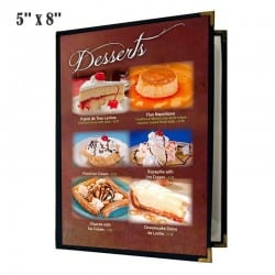 Couverture de menu 2 volets 5x8