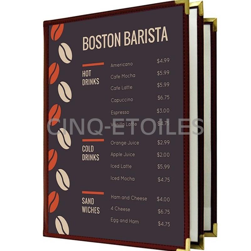 Couverture de menu 3 volets 8 x 11 couleurs spéciales