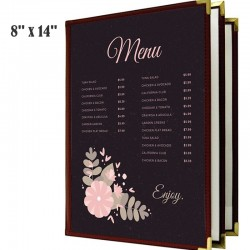 Couverture de menu 3 volets 8 x 14