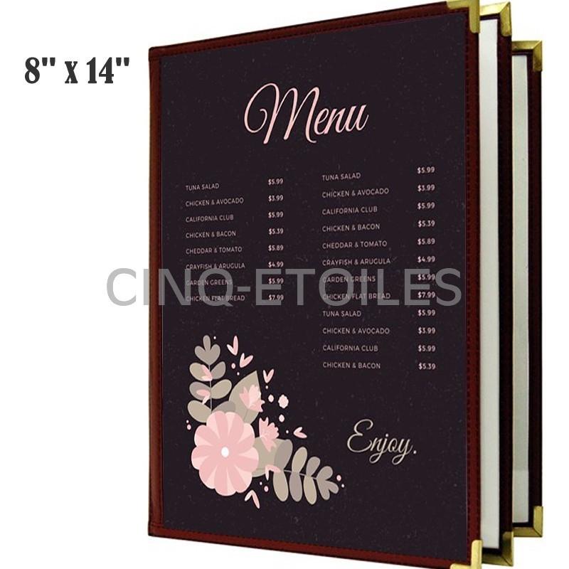 Couverture de menu 3 volets 8 x 14