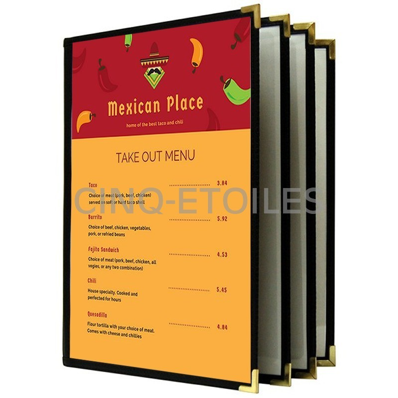 Couverture de menu 4 volets 8x11