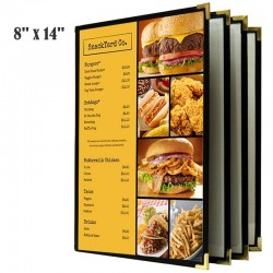 Couverture de menu 4 volets 8x14