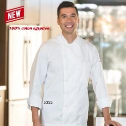 Veste de chef blanche coton Égyptien