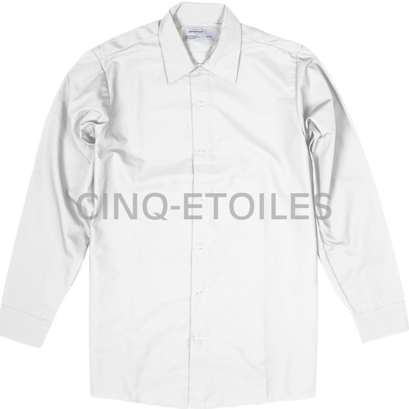 Chemise domaine alimentaire blanc