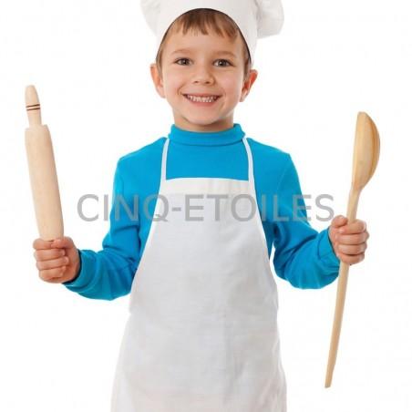 Tablier blanc pour enfant