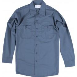 Chemise de travail poly/coton manches longues bleu postier