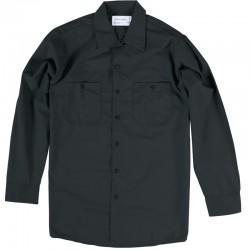 Chemise de travail poly/coton manches longues noire