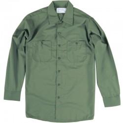 Chemise de travail poly/coton manches longues vert lagune