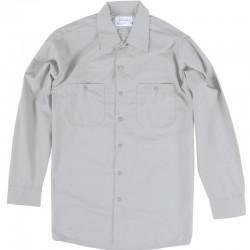 Chemise de travail poly/coton manches longues gris pâle