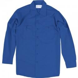 Chemise de travail poly/coton manches longues bleu royal