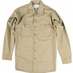 Chemise de travail poly/coton manches longues beige tan