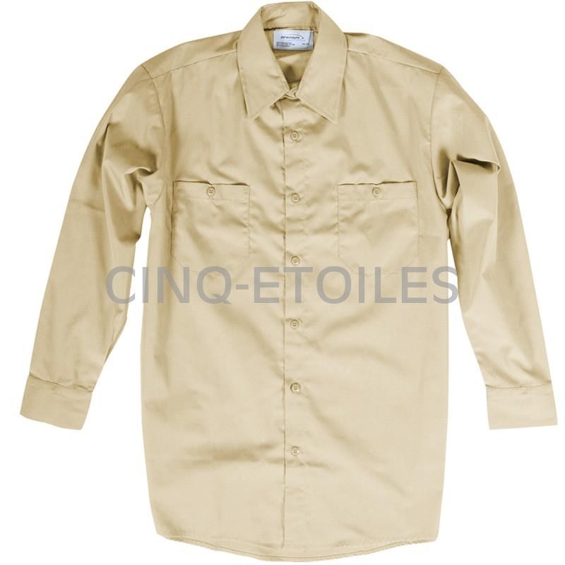 Chemise de travail pour homme beige tan