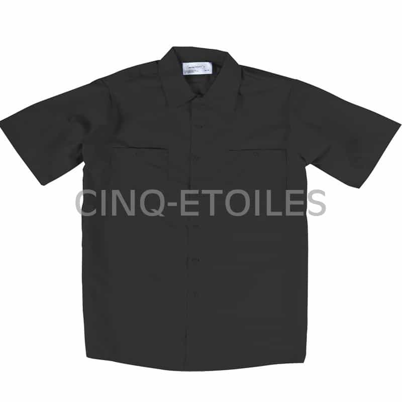 Chemise de travail poly/coton noir