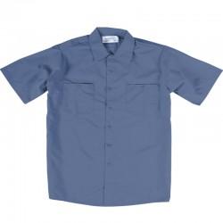 Chemise de travail poly/coton bleu postier