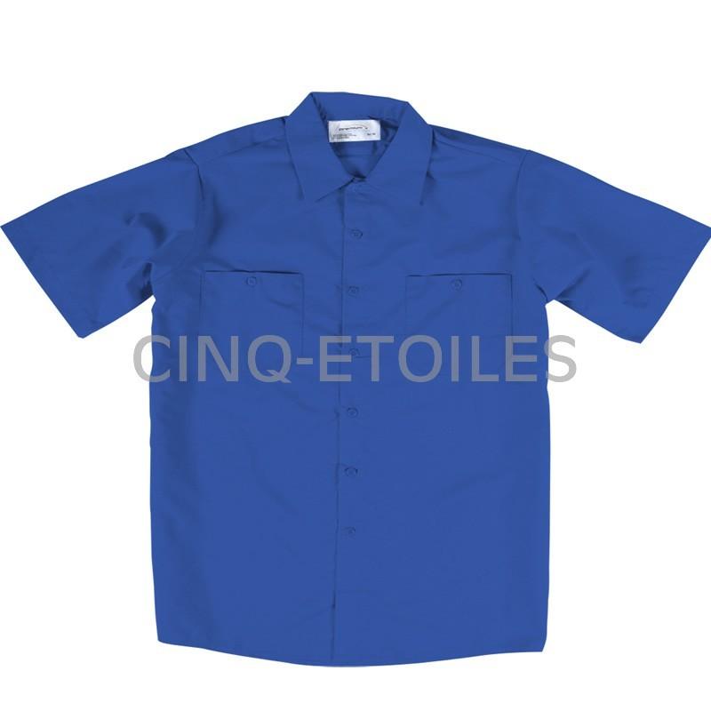 Chemise de travail poly/coton bleu royal