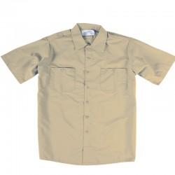 Chemise de travail poly/coton beige tan