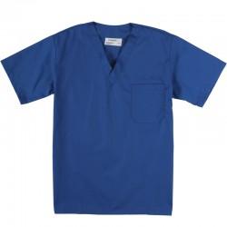 Haut de préposé une poche poitrine bleu royal