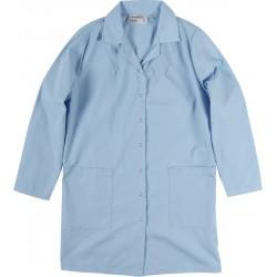 Veste de préposé manches longues bleu pâle