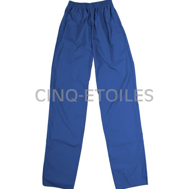 Pantalon de préposé taille élastique bleu royal