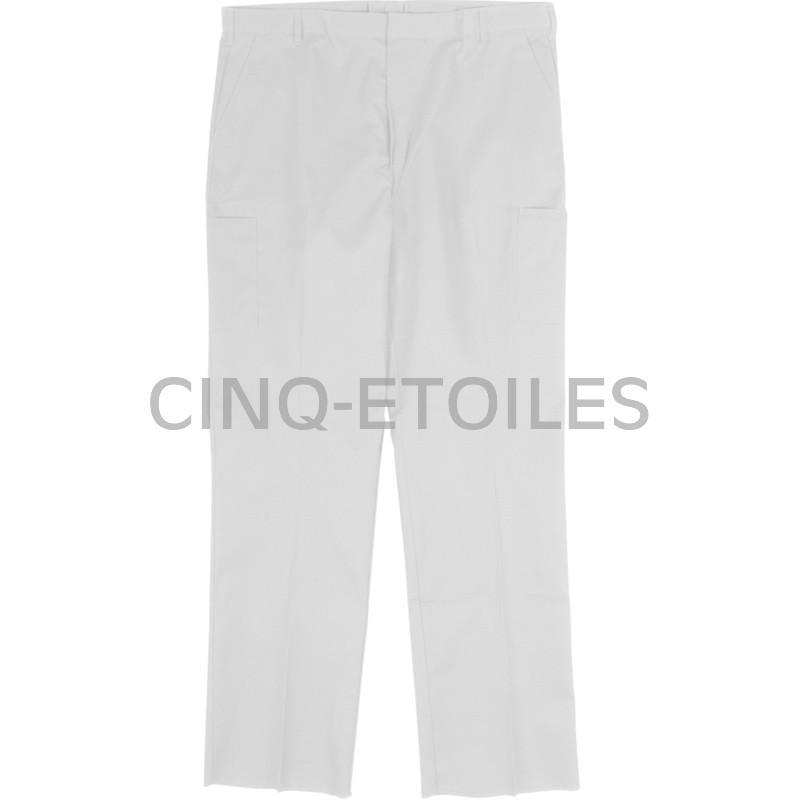 Pantalon de travail poly/coton blanc