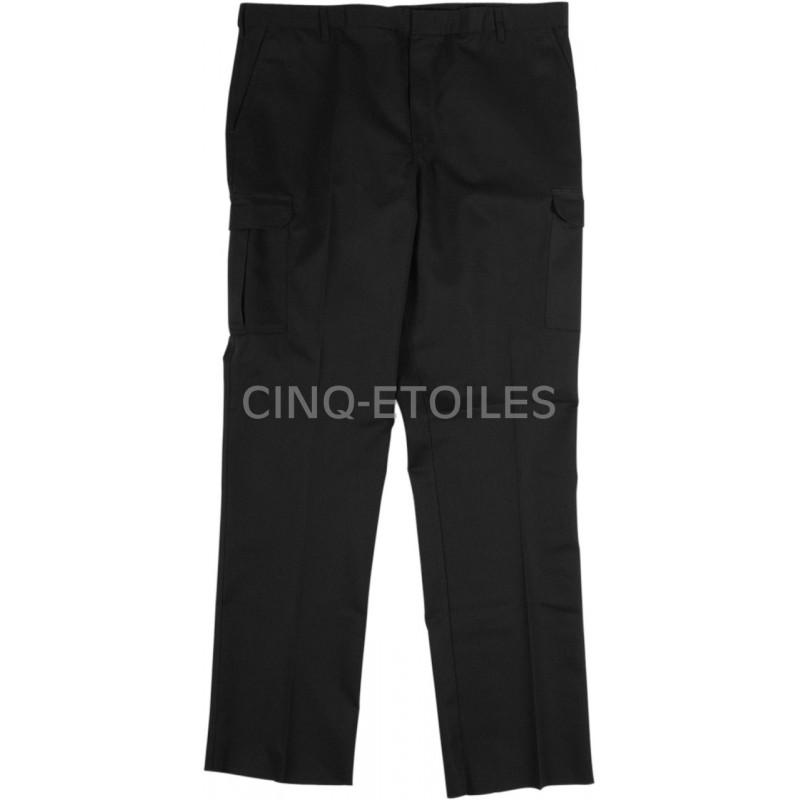 Pantalon de travail poches cargo velcro noir