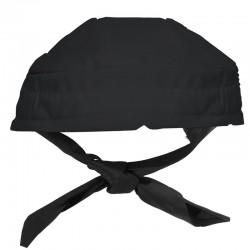 Chapeau de cuisinier bandana noir