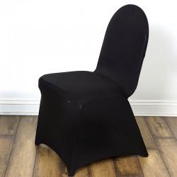 Housse de chaise noire spandex
