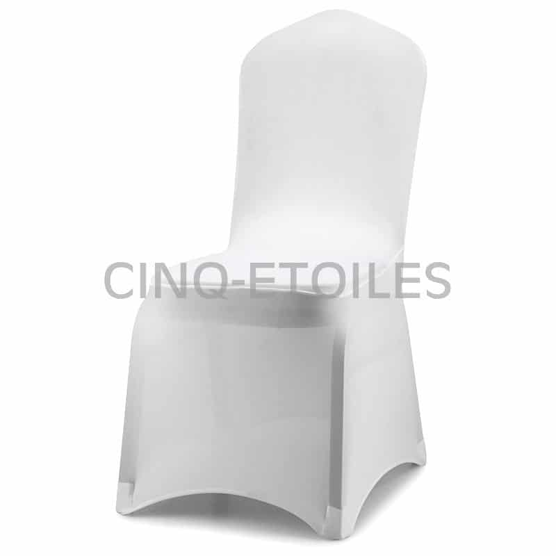 Housse de chaise blanche spandex