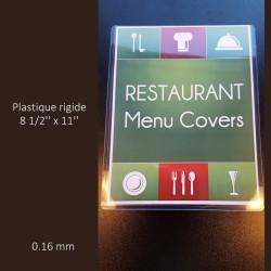 Menu plastique rigide 2 côtés