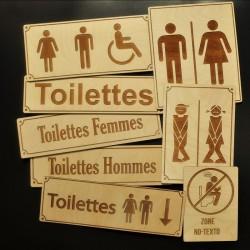 Signalisation pour toilette
