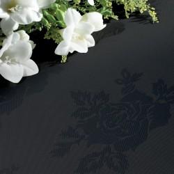 Nappe noire motifs rose 54 x 54