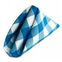serviettes de table à carreaux