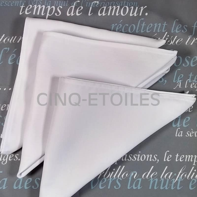 Serviette de table blanche signature