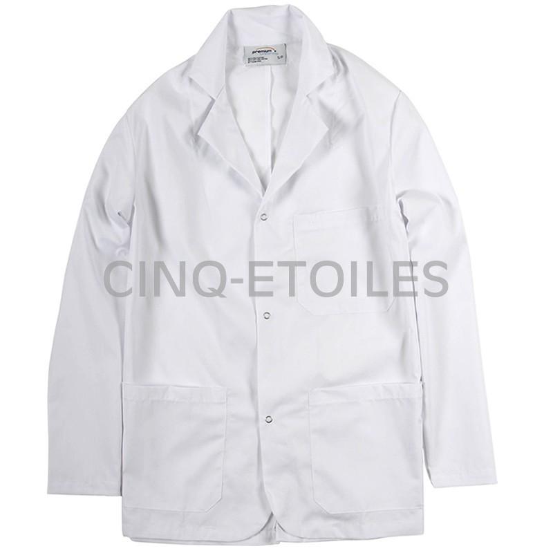 Manteau blanc court 3 poches