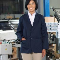 Manteau court d'industrie bleu marin