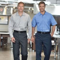 Chemise poly/coton manches courtes pour homme
