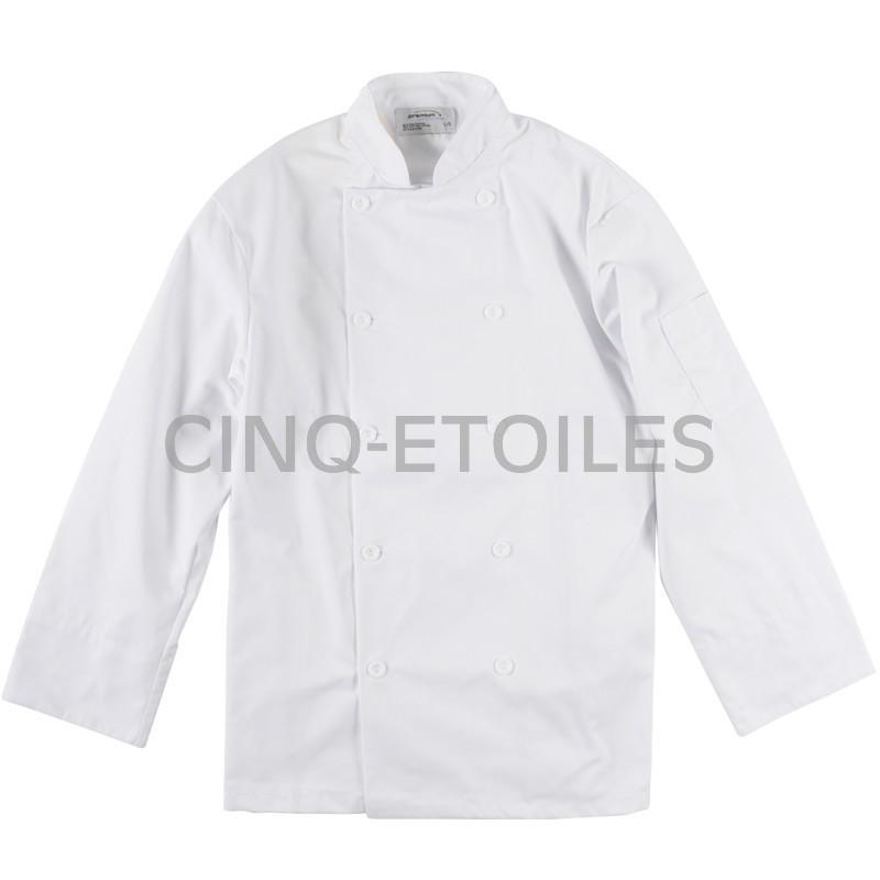 Veste de cuisine blanche poly/coton