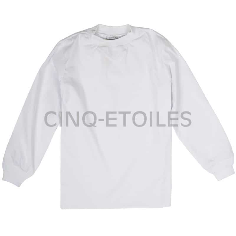 Pull blanc manches longues domaine alimentaire