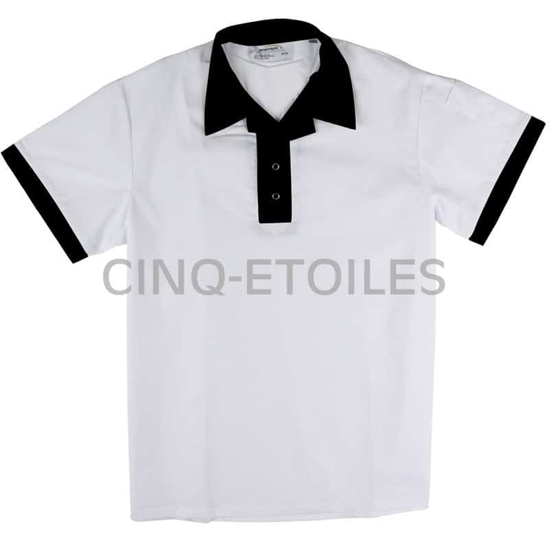 Chemise pull-over manches courtes