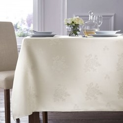 Nappe blanche rose design 36x36
