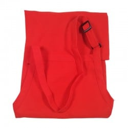 Tablier casse-croûte rouge avec bavette