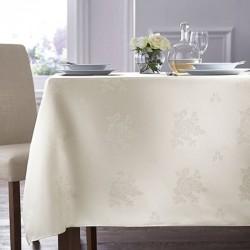 Nappe blanche rose design 85x85